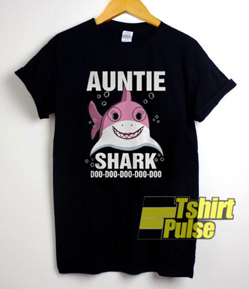 Auntie Shark t-shirt for men and women tshirt