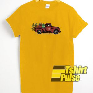 Truck Red t-shirt for men and women tshirt