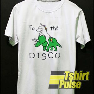 Unicorn Dinosaur To The Disco t-shirt for men and women tshirt