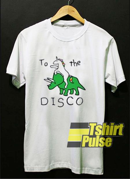 Unicorn Dinosaur To The Disco t-shirt for men and women tshirt