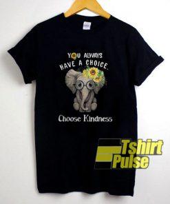 Sunflower Elephant t-shirt for men and women tshirt