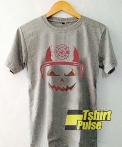Fire Dept Halloween Pumpkin t-shirt for men and women tshirt