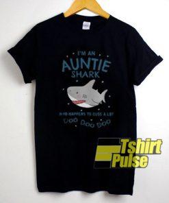 I'm An Auntie Shark t-shirt for men and women tshirt