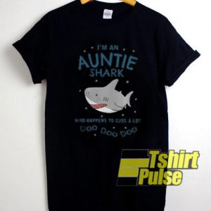 I'm An Auntie Shark t-shirt for men and women tshirt