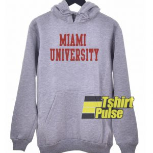 Miami University hooded sweatshirt clothing unisex hoodie