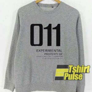 Property of Hawkins National Labbratory sweatshirt