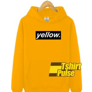 Yellow hooded sweatshirt clothing unisex hoodie