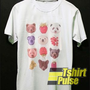 Bear And Fruits Cute t-shirt for men and women tshirt