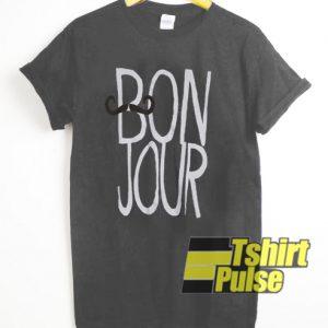 Bonjour t-shirt for men and women tshirt