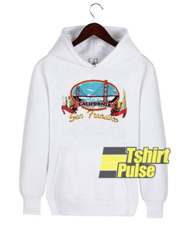 California San Francisco New hooded sweatshirt clothing unisex hoodie