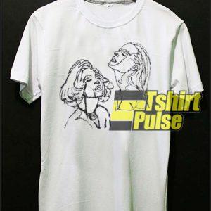 Line Art Women Face t-shirt for men and women tshirt