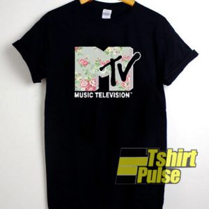 MTV Music Television Floral t-shirt for men and women tshirt
