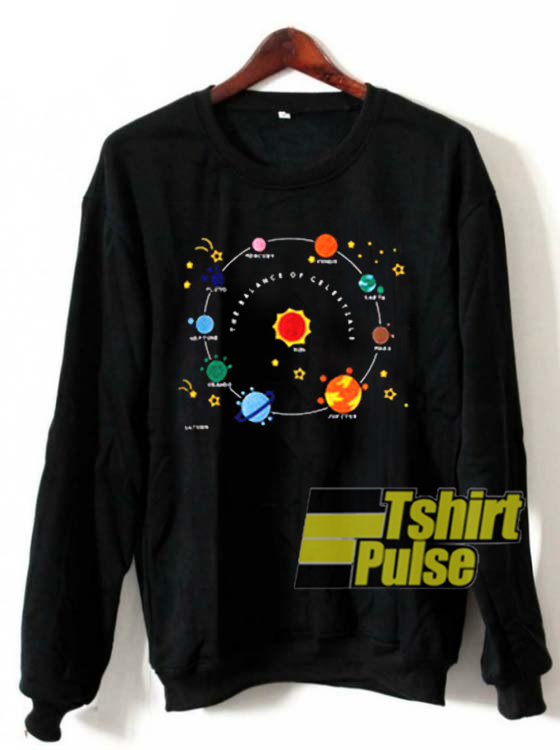 Planets Solar System And Star sweatshirt