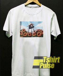 Girl And Sun Flower Comic t-shirt for men and women tshirt