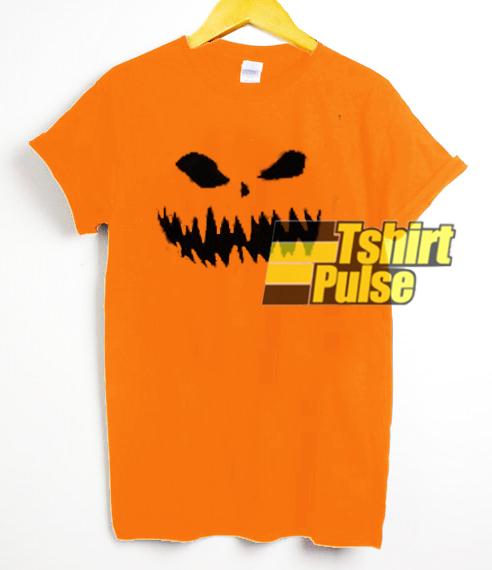 Pumpkin Halloween Face t-shirt for men and women tshirt