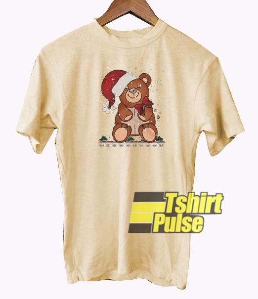 Christmas Teddy Bear Santa t-shirt for men and women tshirt