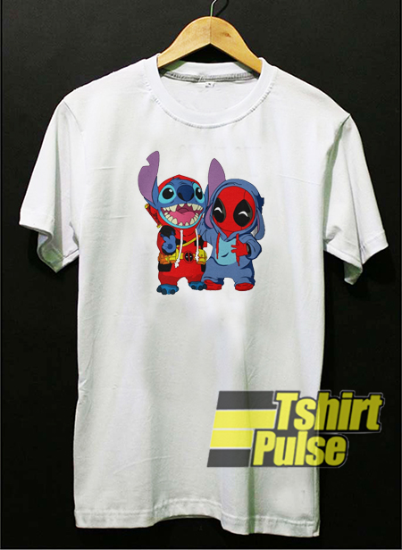 Deadpool and Stitch baby t-shirt for men and women tshirt