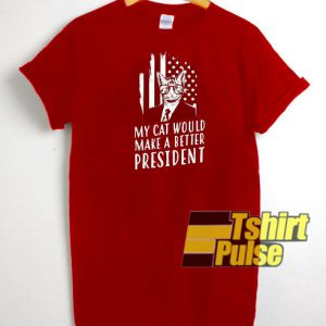Funny Cat President t-shirt for men and women tshirt
