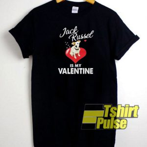 Jack Russel Valentine's t-shirt for men and women tshirt