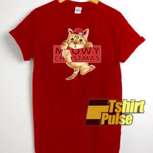 Meowy Christmas t-shirt for men and women tshirt