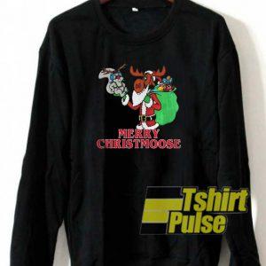Merry Christmoose Bullwinkle sweatshirt