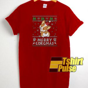 Merry Corgmas t-shirt for men and women tshirt
