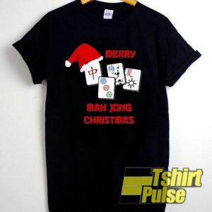 Merry mah jong Christmas Chinese jewish t-shirt for men and women tshirt