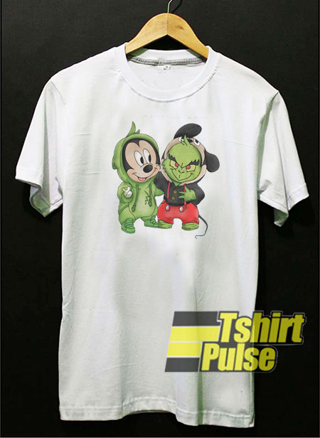 Mickey Mouse and Grinch t shirt for men and women tshirt
