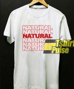 Natural t-shirt for men and women tshirt