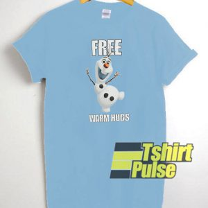 Olaf Free Warm Hugs t-shirt for men and women tshirt