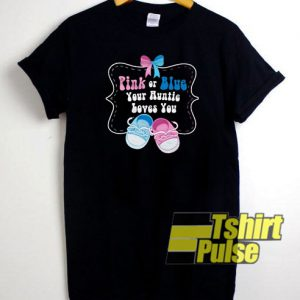 Pink or Blue t-shirt for men and women tshirt