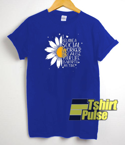 SUNFLOWER I BECAME A SOCIAL t-shirt for men and women tshirt