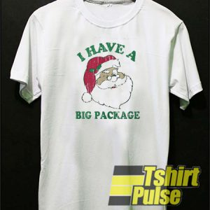 Santa I have a big package t-shirt for men and women tshirt