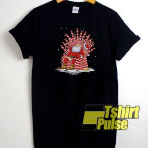 Santa On A Throne Candy t-shirt for men and women tshirt