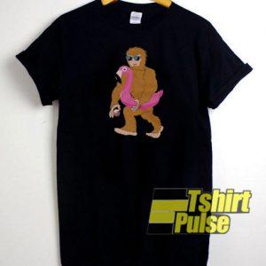 Sasquatch Flamingo t-shirt for men and women tshirt