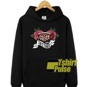 Tattoos and Coffee hooded sweatshirt clothing unisex hoodie