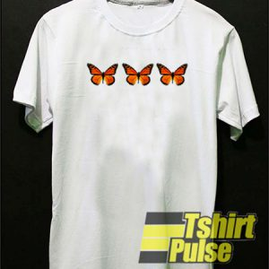 Triple Butterfly t-shirt for men and women tshirt