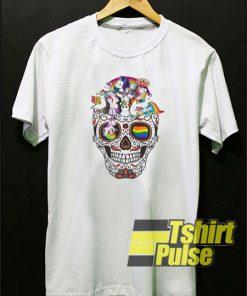 Unicorn skull LGBT t-shirt for men and women tshirt