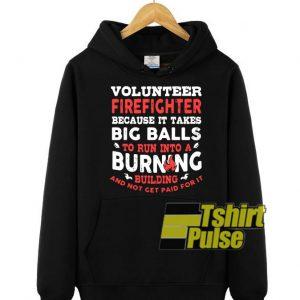 Volunteer firefighter hooded sweatshirt clothing unisex hoodie