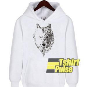 Wolf Tribal Aztec hooded sweatshirt clothing unisex hoodie