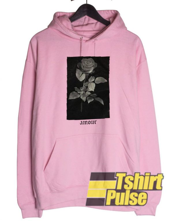 Rose Amour hooded sweatshirt clothing unisex