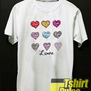 9 different heart emotions t-shirt for men and women tshirt