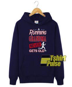 A running grandma hooded sweatshirt clothing unisex