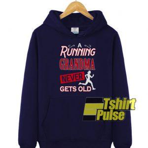 A running grandma hooded sweatshirt clothing unisex hoodie