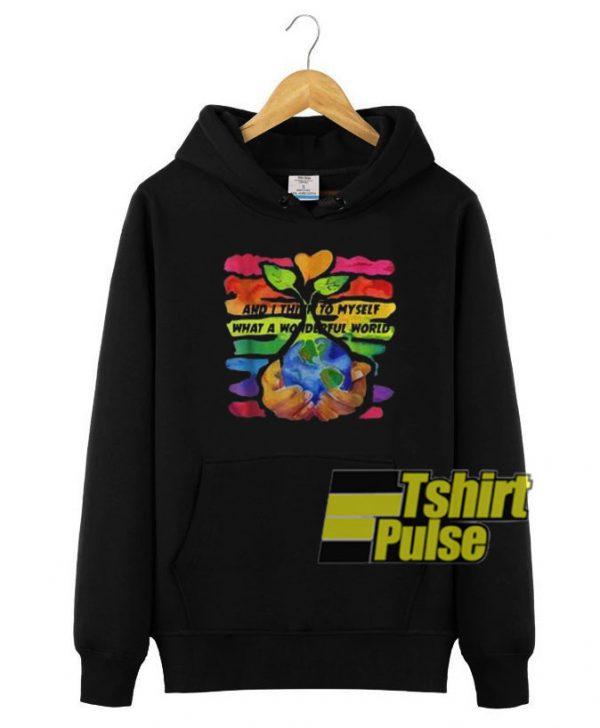 And I Think To My Self hooded sweatshirt clothing unisex hoodie