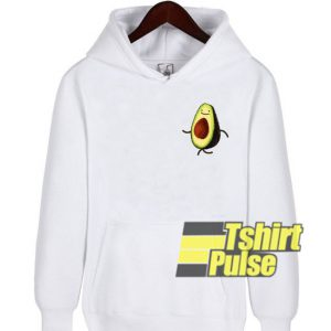 Avocado Pocket Print hooded sweatshirt clothing unisex hoodie