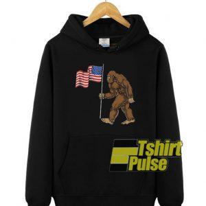 Bigfoot American Flag hooded sweatshirt clothing unisex hoodie