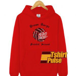 Brown Barge Middle School hooded sweatshirt clothing unisex hoodie