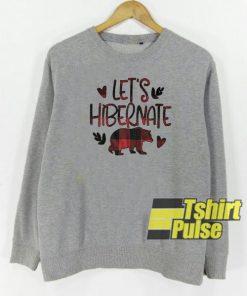 Buffalo Plaid Let's Hibernate sweatshirt