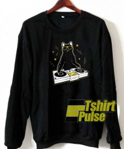 Cat DJ sweatshirt